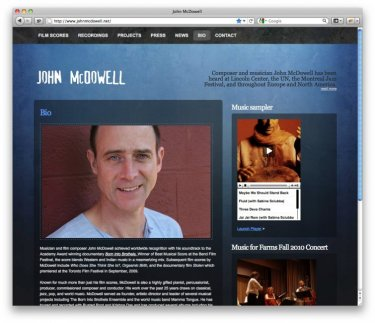 Composer John McDowell's new site