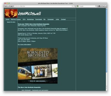 Composer John McDowell's old site