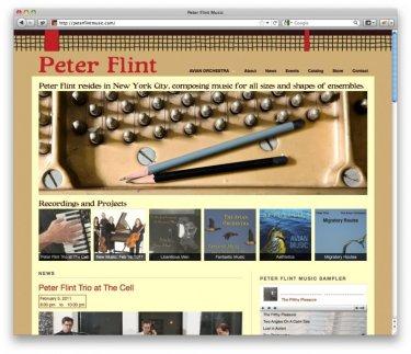 Composer Peter Flint's new site